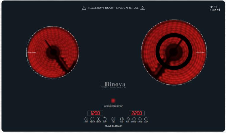 Bếp hồng ngoại Binova BI-2266-C
